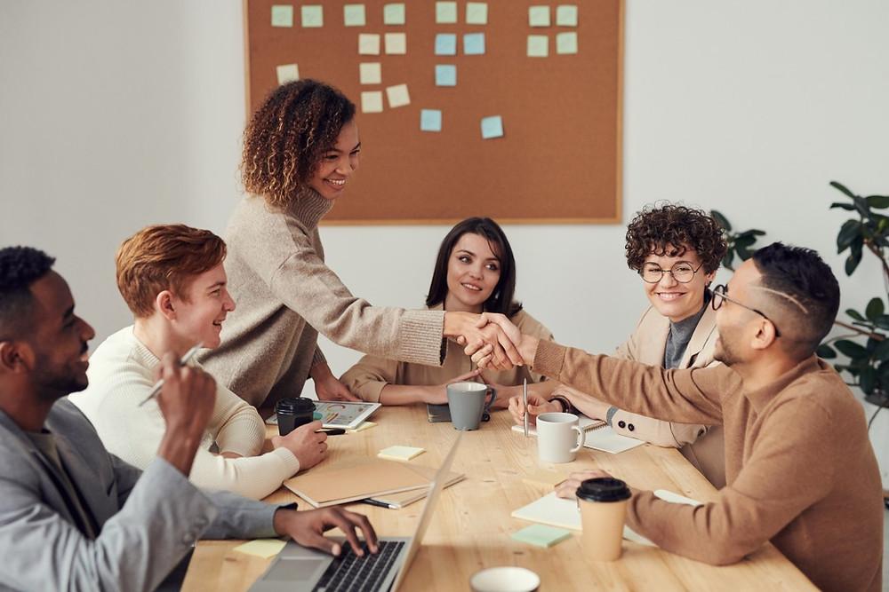 reunião de trabalho sobre produção de conteúdo