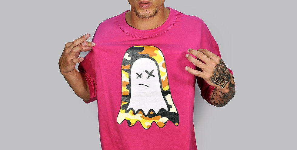 Camiseta Ghost Sombra Camu Pink