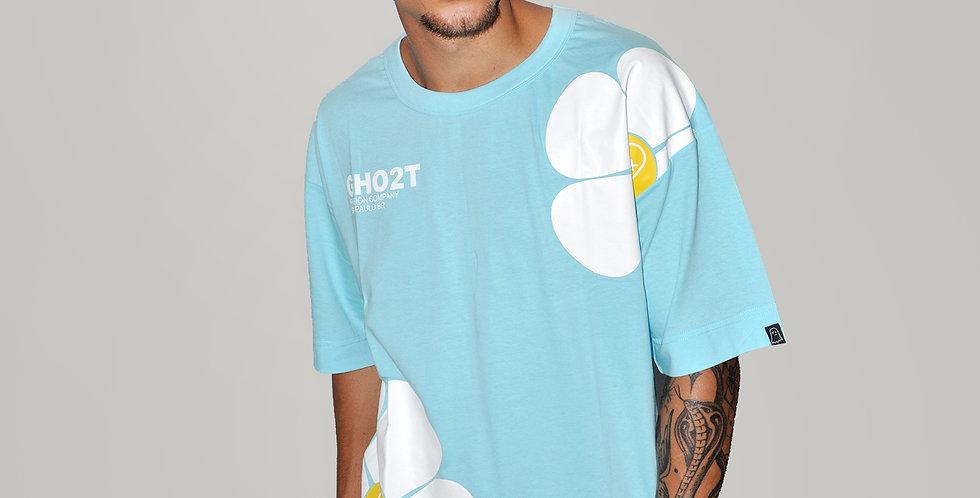 Camiseta Ghost Big Flower Blue