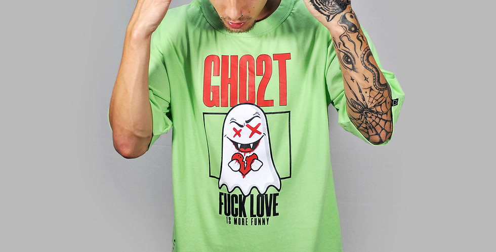 Camiseta Ghost Fuck Love Green
