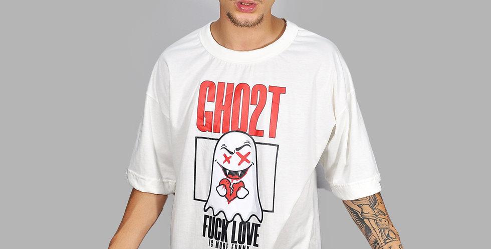 Camiseta Ghost Fuck Love Off White