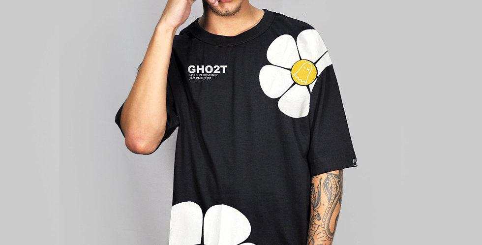 Camiseta Ghost Big Flower Black