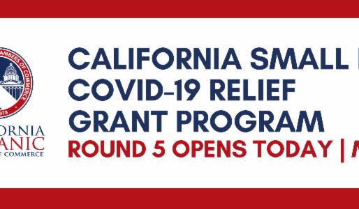 Round 5 California Small Business COVID 19 Relief Grant Program