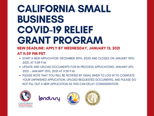 California Hispanic Chambers of Commerce and the California Small Business COVID-19 Relief Grant