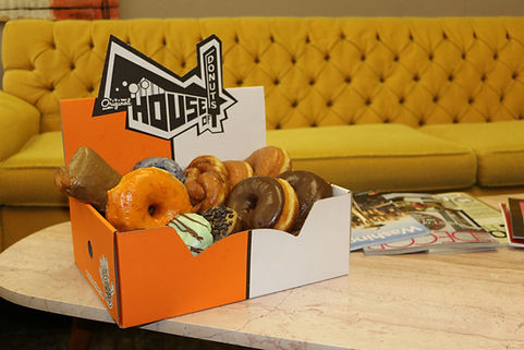 Vintage Inspired style donut shop box
