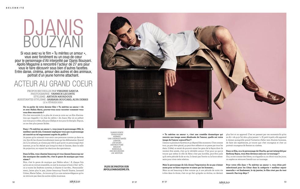 Apollo magazine #27 SS20- Djanis Bouzyan