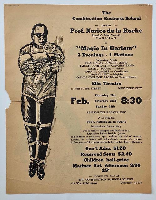 Harlem Magic by Norice de la Roche, a rare piece of history