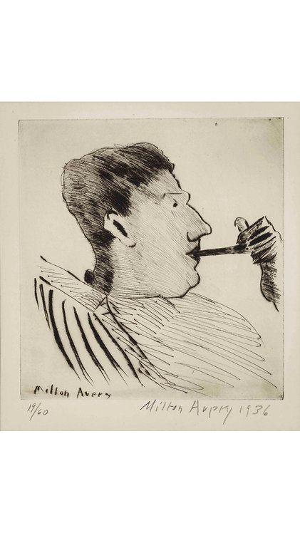 Rothko with Pipe - Milton Avery - Two Art Legends Linked