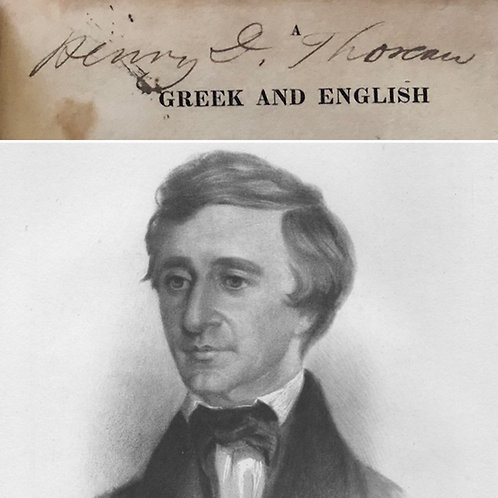 A Greek and English Lexicon...Other Greek Classics - Henry David Thoreau's Copy!