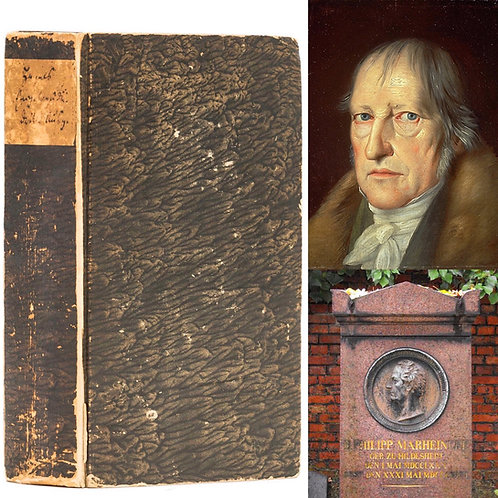 Hegel's most important work - an exceptional presentation copy!