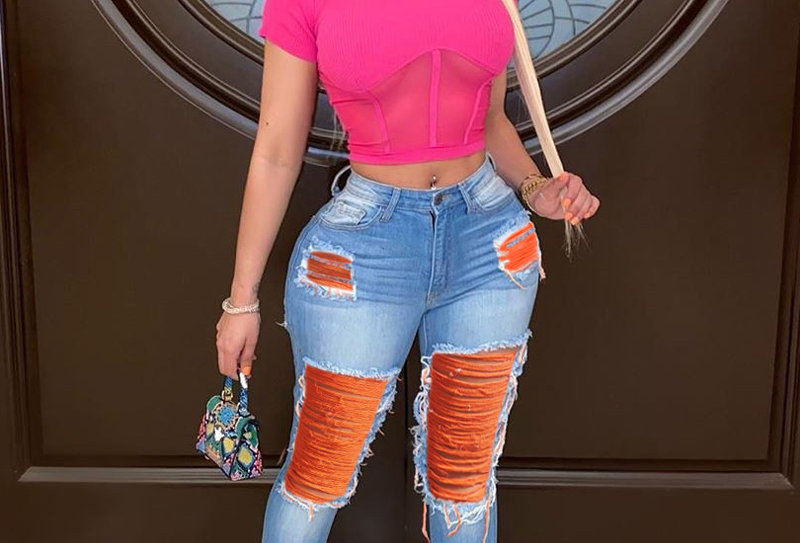 Dyed Ripped Jeanz