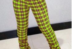 Plaid scrunch pants