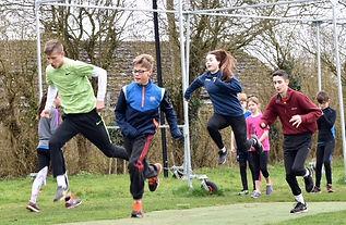 Junior runnin athletes