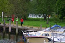 Running near boats