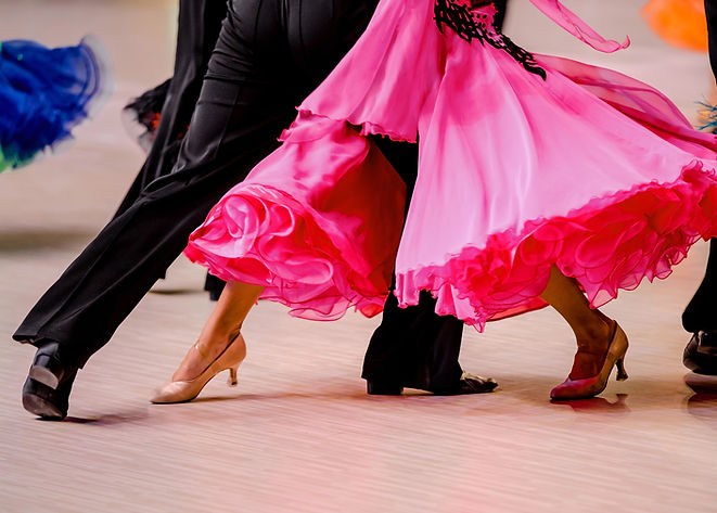 competitions in ballroom dancing. black