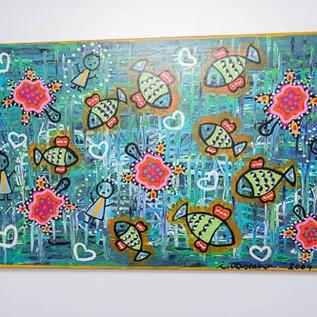 Kunstwerk in de wachtzaal