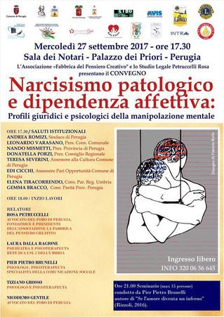 Convegno giuridico e psicologico su narcisismo patologico e dipendenza affettiva