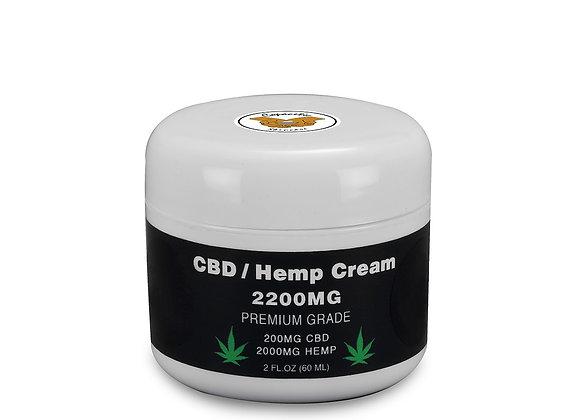 CBD / Hemp Seed Oil Cream 200MG CBD and 2000MG Hemp
