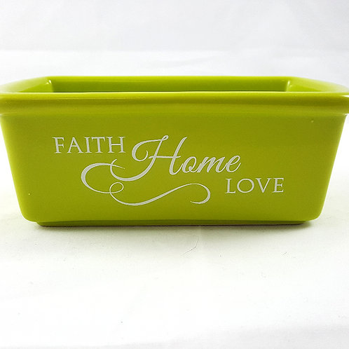 Faith Home Love Mini Loaf Stoneware