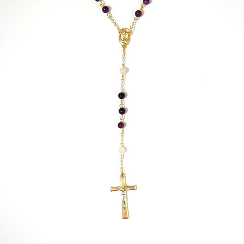 Purple Agate Gemstone Rosary