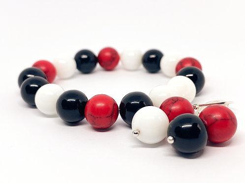 "Excellent And Vibrant Natural Stone Bracelet ""Uoga"""