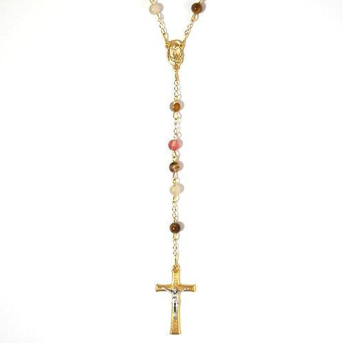 Volcano Cherry Quartz Rosary