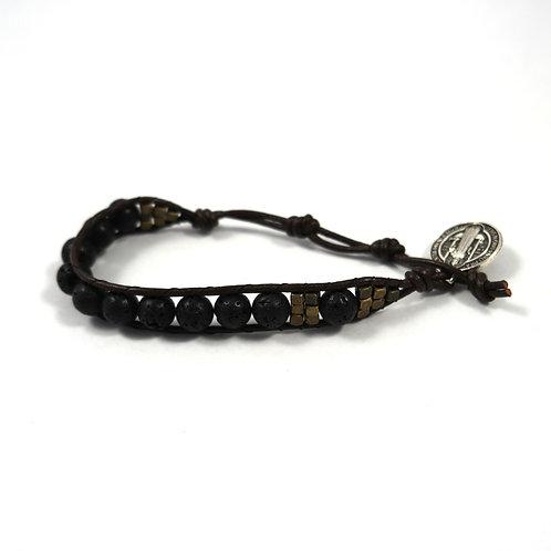Leather Rosary Bracelet