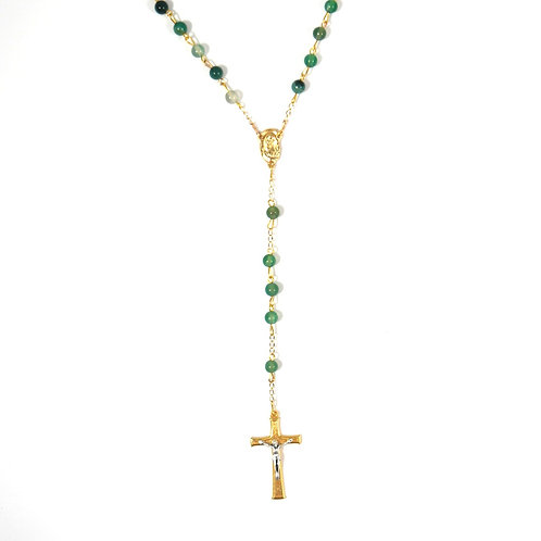 Green Agate Gemstone Rosary