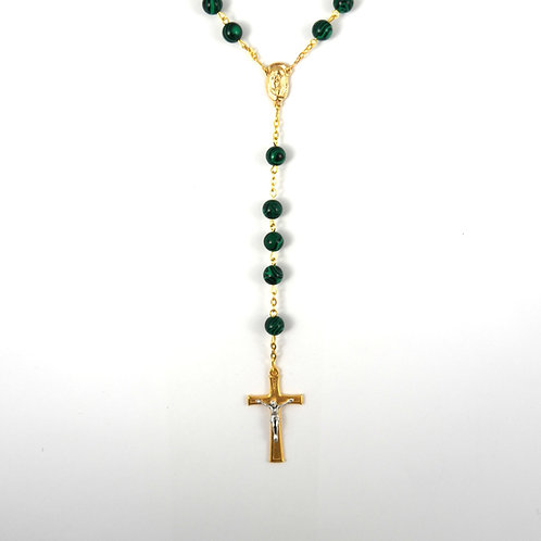 Malachite Gemstone Rosary