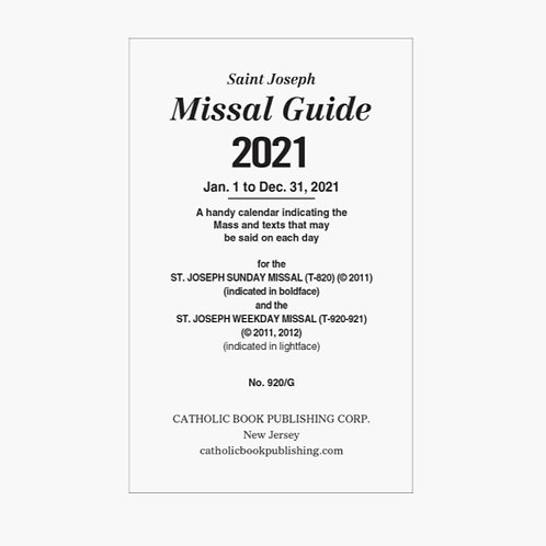 Missal Guide 2021