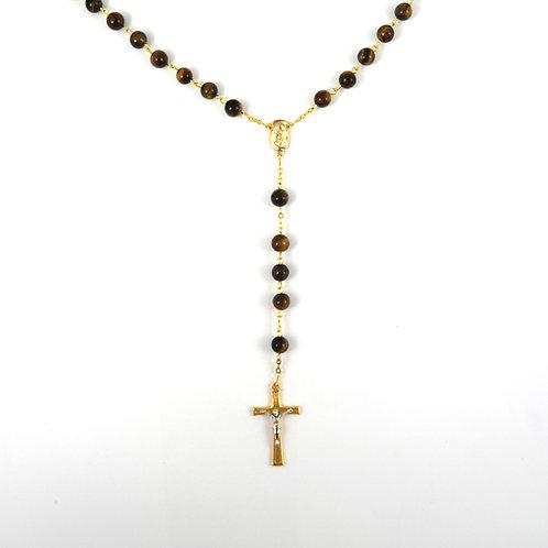 Tiger Eye Gemstone Rosary