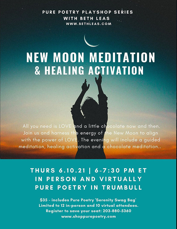 New Moon Meditation Pure Poetry Playshop