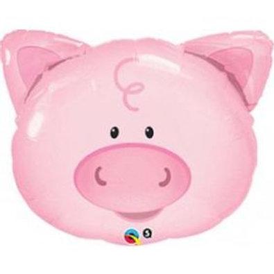 """30"""" Playful Pig Foil Balloon"""