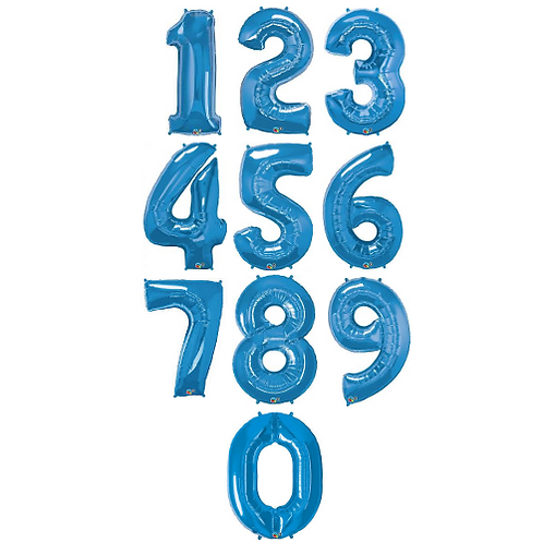 "40"" Blue Number Foil Balloons ( 0-9 )"