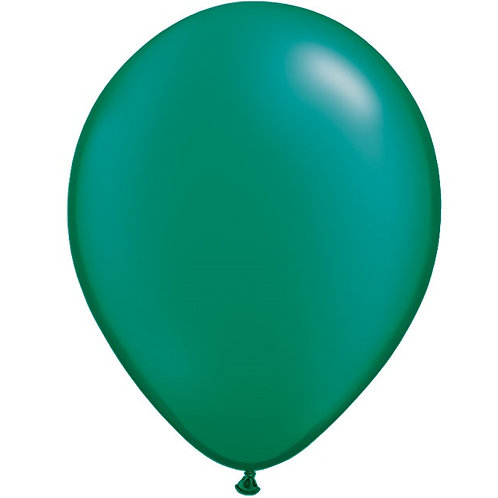 "12"" Metallic Pearl Latex Balloon - Emerald Green"
