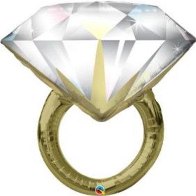"35"" Diamond Wedding Ring Foil Balloon"