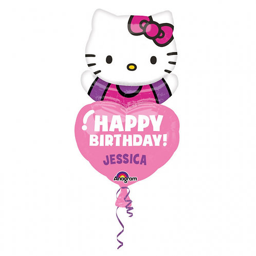 """32"""" Hello Kitty Happy Birthday with Personalized Name"""
