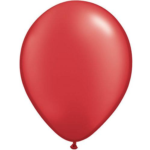 """12"""" Metallic Pearl Latex Balloon - Ruby Red"""