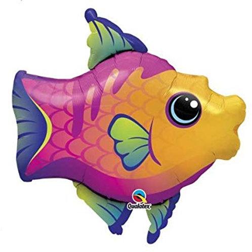 """32"""" Fanciful Fish Shape Foil Balloon"""