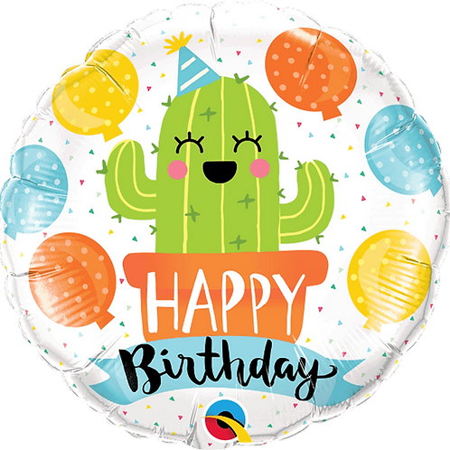 "18"" Cactus Happy Birthday Foil Balloon"