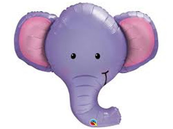 "39"" Ellie the Elephant Head Foil Balloon"