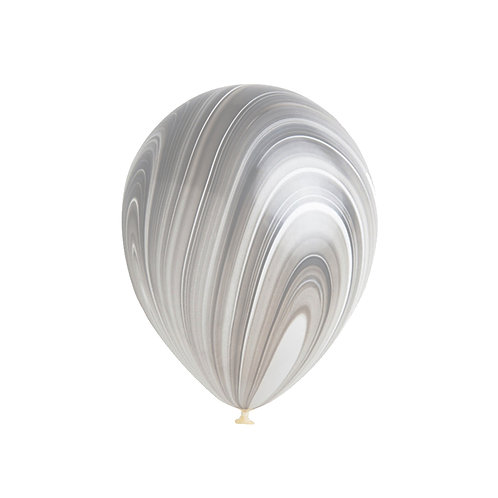 "11"" Black and White Marble Agate Balloon"