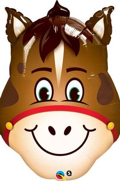 """32"""" Hilarious Horse Head Foil Balloon"""