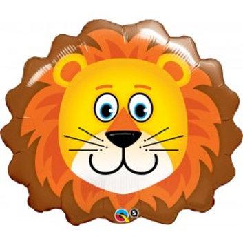 "29"" Lovable Lion Head Foil Balloon"