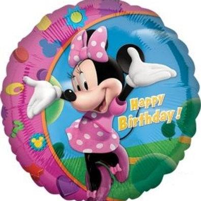 "18"" Minnie Happy Birthday Foil Balloon"