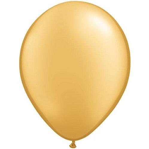 """12"""" Metallic Pearl Latex Balloon - Gold"""