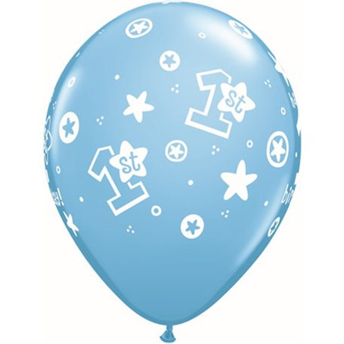 "11"" 1st Birthday Boy Printed Balloon"