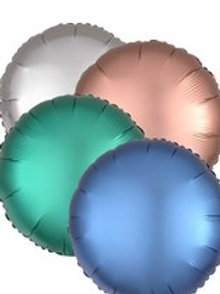 "18"" Satin Luxe Round Foil Balloons (5 Colours Available)"