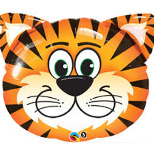 "30"" Tickled Tiger Head Foil Balloon"