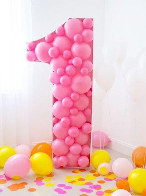 Number Balloon Mosaic